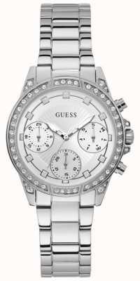 Guess | Women's Gemini | Stainless Steel Bracelet | Silver Dial | W1293L1