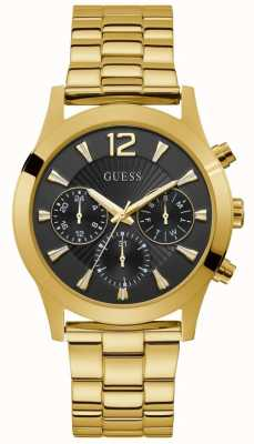 Guess | Women's Skylar | Gold PVD Plated Bracelet | Black Dial | W1295L2