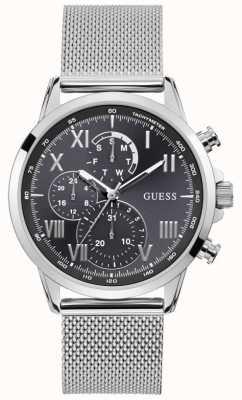 Guess | Men's Porter | Silver Mesh Bracelet | Grey Dial | W1310G1