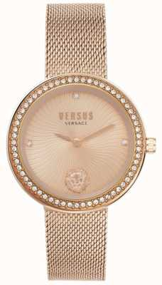 Versus Versace | Women's Léa | Rose Gold Mesh Bracelet | Rose Gold Dial | VSPEN0919