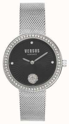 Versus Versace | Women's Léa | Silver Mesh Bracelet | Black Dial | VSPEN0719