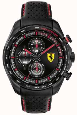 Scuderia Ferrari | Men's Speed-Racer | Black Leather Strap | Black Dial | 0830647