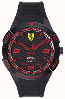 Scuderia Ferrari | Men's Apex | Black Rubber Strap | Black/Red Dial | 0830662