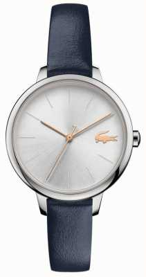 Lacoste | Women's Cannes | Blue Leather Strap | Silver Dial | 2001100