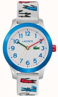Lacoste 12.12 Kid's | White Rubber Printed Strap | White Dial | 2030021