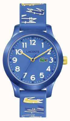 Lacoste | Kids 12.12 | Blue Rubber Printed Strap | Blue Dial | 2030019