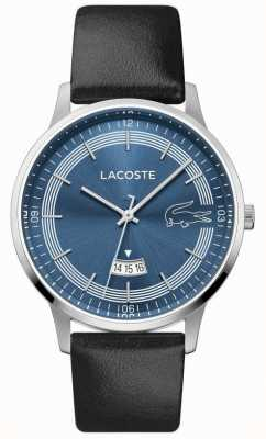 Lacoste | Men's Madrid | Black Leather Strap | Blue Dial | 2011034