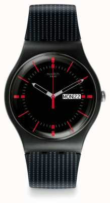 Swatch | New Gent | Gaet Watch | Black Silicone | SUOB714