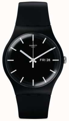 Swatch | New Gent | Mono Black Watch | SUOB720