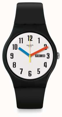 Swatch | New Gent | Elementary Watch | Black Silicone | SUOB728