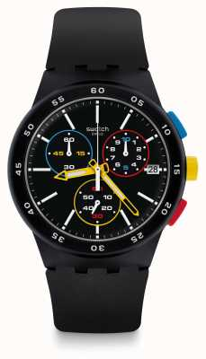 Swatch | Chrono Plastic | Gents Black-one Watch | SUSB416