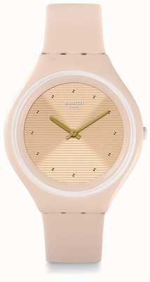 Swatch | Skin Big | Skinskin Watch | Cream Silicone Strap | SVUT100