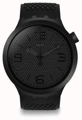Swatch | Big Bold | BBBlack Watch | Silicone Watch | SO27B100