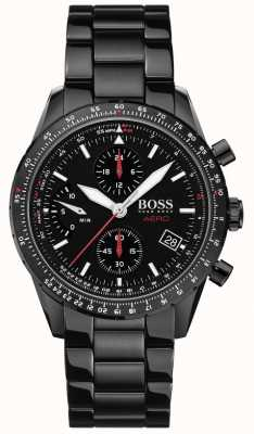 Boss | Aero | Black Chronograph | Black Bracelet Watch | 1513771