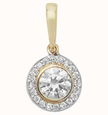 Treasure House 9ct Gold Cz Round Cluster Pendant PN1014