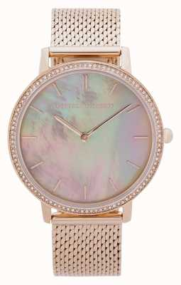 Rebecca Minkoff | Women's Major | Gold Mesh Bracelet | Mother Of Pearl Dial 2200369