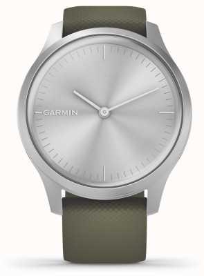 Garmin Vivomove 3 Style | Silver Aluminium Case | Moss Silicone Strap 010-02240-01