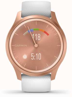 Garmin Vivomove 3 Style | Rose Gold Aluminium Case | White Strap 010-02240-00