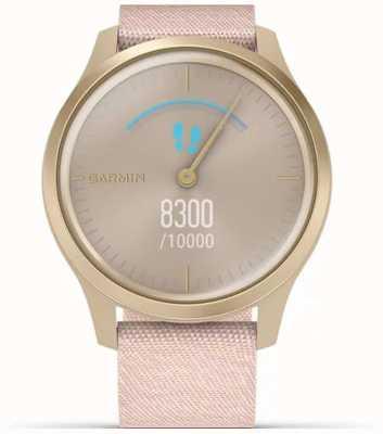 Garmin Vivomove Style | Light Gold Aluminium Case | Pink Strap 010-02240-02