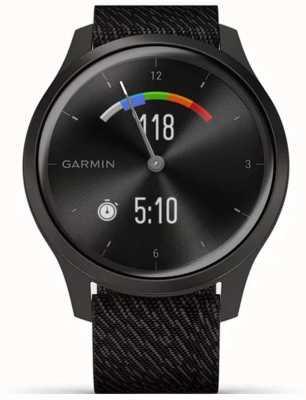 Garmin Vivomove 3 Style | Graphite Aluminium Case | Black Strap 010-02240-03