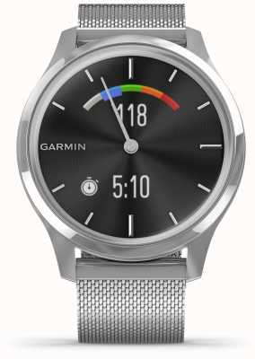 Garmin Vivomove Luxe | Stainless Steel Case | Silver Milanese Band 010-02241-03