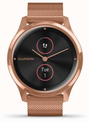 Garmin Vivomove Luxe | 18ct PVD Case | Rose Gold Milanese Strap 010-02241-04