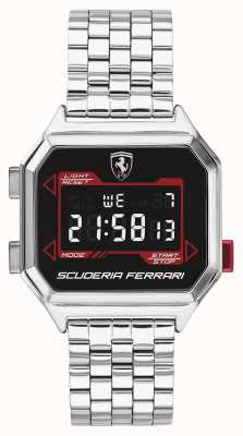 Scuderia Ferrari | Men's Digidrive | Stainless Steel Bracelet | Black Dial | 0830703