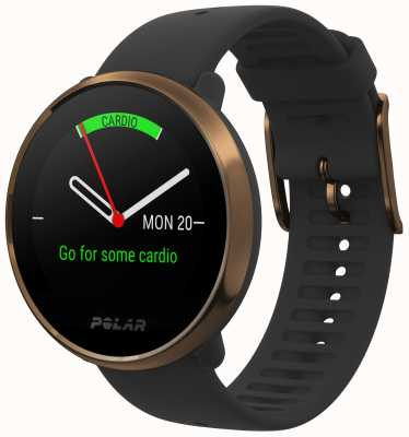 Polar | Ignite | Black & Copper Fitness Watch | M/L | Black Rubber 90079362