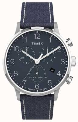 Timex | Waterbury Classic Chrono 40mm | Blue Leather | Blue Dial | TW2T71300