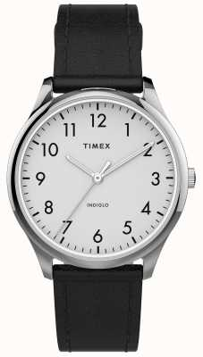 Timex | Easy Reader 32mm | Black Leather Strap | White Dial | TW2T72100