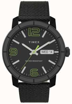 Timex | Men's Mod 44mm | Black Nylon Strap | Black Dial | TW2T72500