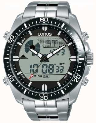 Lorus | Men's Duo Display | Stainless Steel Bracelet | R2B03AX9