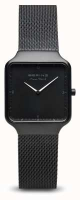 Bering | Max René | Women's | Black Steel Mesh Bracelet |Black Dial 15832-123