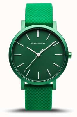 Bering | True Aurora | Green Rubber Strap | Green Dial | 16934-899