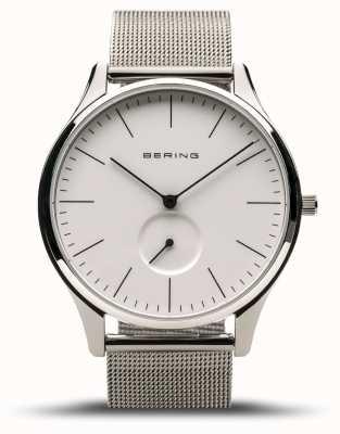 Bering | Classic | Men's Polished Silver | Steel Mesh Bracelet | 16641-004