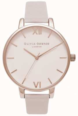 Olivia Burton | Womens | Big Blush Dial | Blush Leather Strap OB16BD95