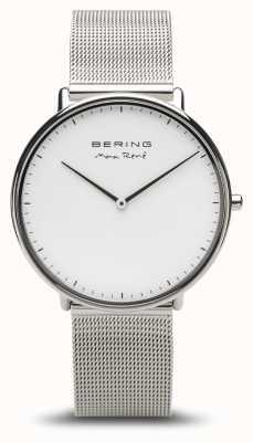 Bering | Max René | Men's Polished Silver | Silver Mesh Bracelet | 15738-004