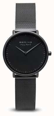 Bering | Max René | Women's Mat Black | Black Steel Mesh Bracelet | 15730-123