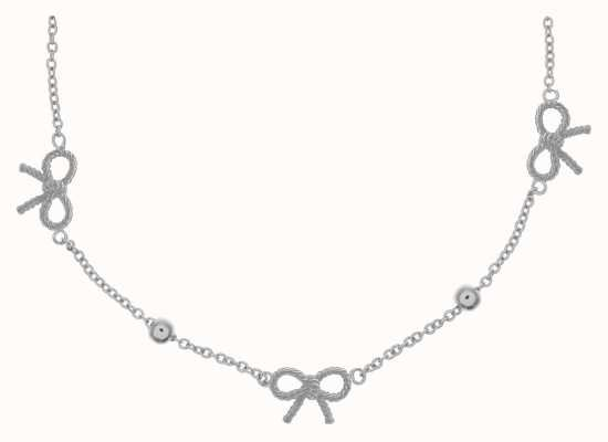 Olivia Burton | Womens | Vintage Bow And Ball Silver Necklace | OBJ16VBN20