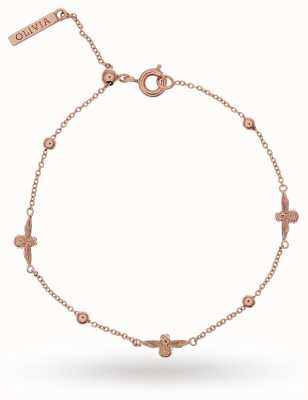 Olivia Burton | Womens | Bee And Ball | Rose Bracelet OBJ16AMB19