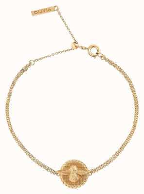 Olivia Burton | Womens | 3D Bee Coin | Gold Bracelet OBJ16AMB22