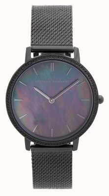 Rebecca Minkoff | Women's Major | Ionic Plated Black Steel | Mother Of Pearl 2200370