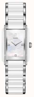 RADO Integral Diamonds High-Tech Ceramic Square Dial Watch R20215902