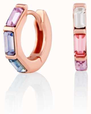 Olivia Burton | Rainbow | Huggie Hoop | Rose Gold Earrings | OBJCOE60