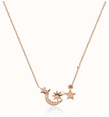 Radley Jewellery Star Gazing | Rose Gold Plated Pearl And Stars Necklace | RYJ2106S