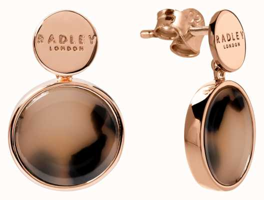 Radley Jewellery Wild Side | Rose Gold Plated Torte Earrings | RYJ1114S