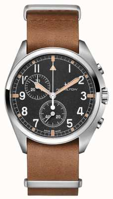 Hamilton Khaki Aviation | Pilot Pioneer | Chronograph | Brown Leather H76522531