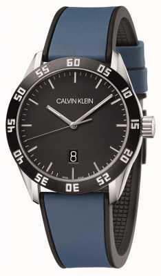 Calvin Klein | Men's Compete | Blue Rubber Strap | Black Dial | K9R31CV1