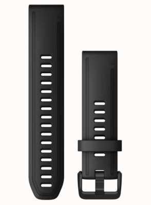 Garmin QuickFit 20 Watch Strap Only, Black Silicone 010-12867-00