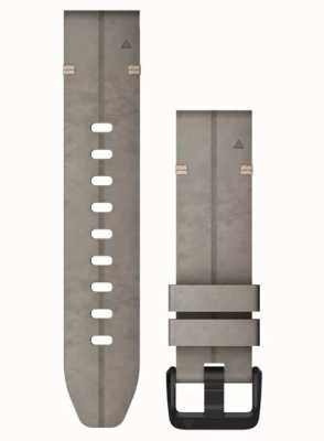 Garmin QuickFit 20 Watch Strap Only, Shale Grey Suede Leather 010-12876-00
